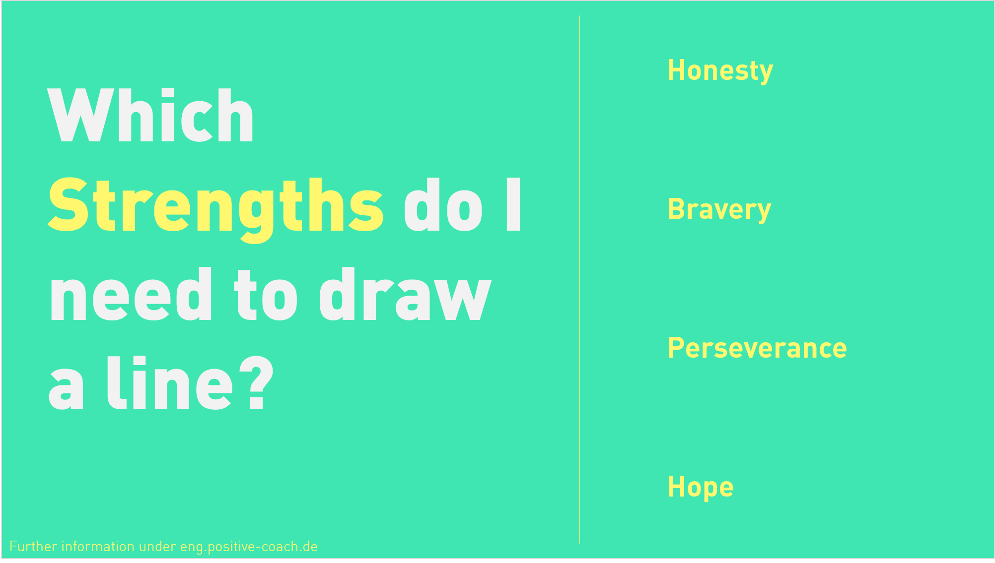 Strengths in Practice: Drawing a Line